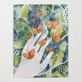 abstract whimsical nature art Poster