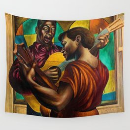 African-American 1951 Classical Masterpiece 'Gospel Singers' by Charles White Wall Tapestry