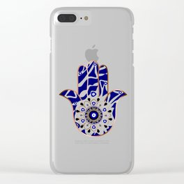 Talk to the Evil Eye Hamsa Hand Clear iPhone Case