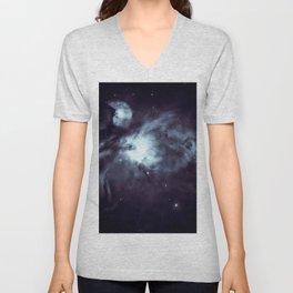 Orion Nebula Midnight Steel Blue Unisex V-Neck