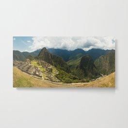 Panorama of Machu Picchu, Peru Metal Print