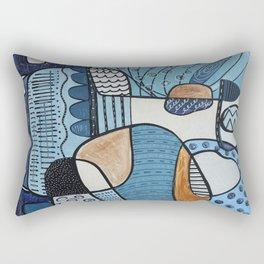 Scratched Below the Surface Rectangular Pillow