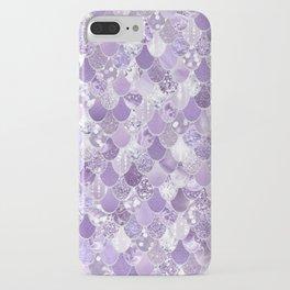 Mermaid Art, Cute Purple, Fun Bathroom Art iPhone Case