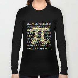 Fun and Colorful Chalkboard-Style Pi Calculated Long Sleeve T-shirt