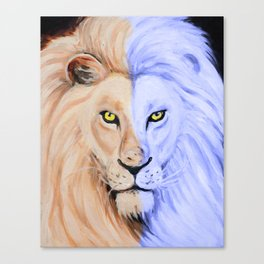 Two Face Lion Pop Canvas Print