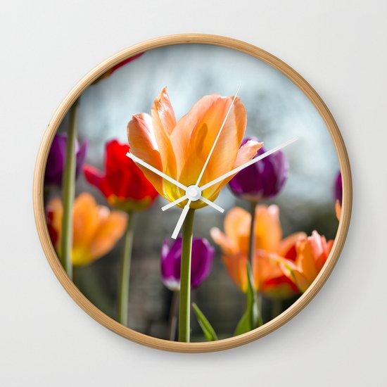 Tulip Dance Wall Clock