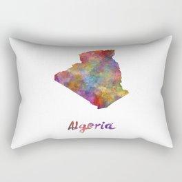 Algeria in watercolor Rectangular Pillow