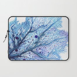 Fan Coral - Blue Laptop Sleeve