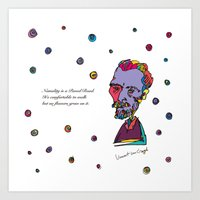 van gogh Art Prints featuring Van gogh by PINT GRAPHICS