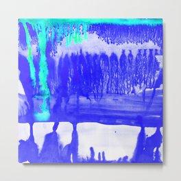 Dip Dye Ultramarine Metal Print