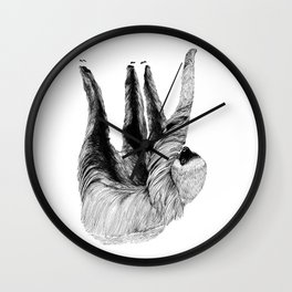 Two-toed Sloth Wall Clock