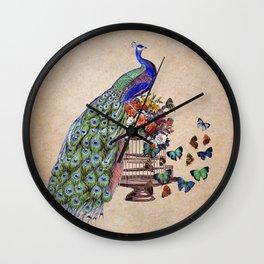 Vintage Peacock Beauty Wall Clock
