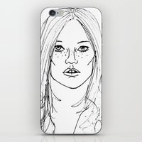 kate moss iPhone & iPod Skins featuring Kate Moss by Erika's Art Shoppe