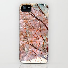 Blood Moon Rising over Snowy Dewdrop Holler iPhone Case