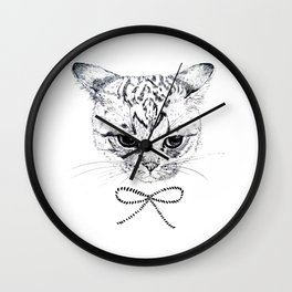ribbon2 Wall Clock