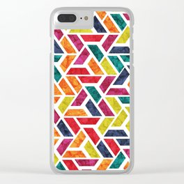 Seamless Colorful Geometric Pattern XII Clear iPhone Case