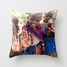 Maasai Wave Throw Pillow