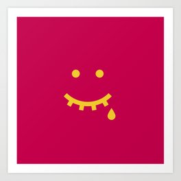 MAYBE HAPPY, MAYBE SAD Art Print