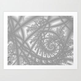 Venetian Lace In Gray Art Print