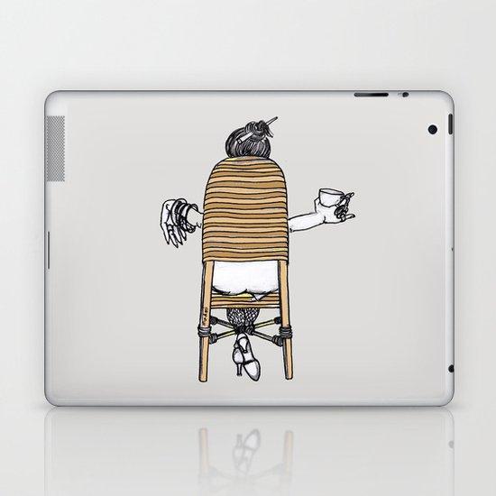 a lady's portrait Laptop & iPad Skin
