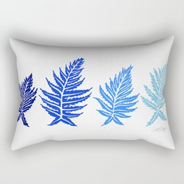 Inked Ferns – Blue Palette Rectangular Pillow