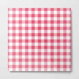 Small Pink & White Vichy Metal Print
