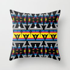 Large Native America inspired blanket print Throw Pillow