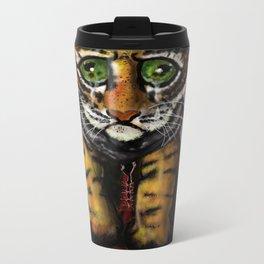 Sad Baby Tiger Metal Travel Mug