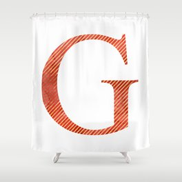 House Pride - G - Striped Watercolour Shower Curtain