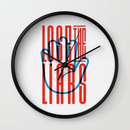 Lose The Liars Wall Clock