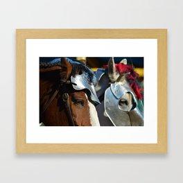 Jousting Horse - Armored Pair Framed Art Print