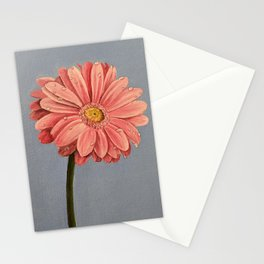 Flower and dew: Pink Flower Stationery Cards