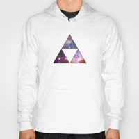 triforce Hoodies featuring Cosmic Triforce by Spooky Dooky