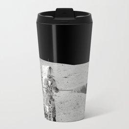 Apollo 14 - Black & White Moon Work Travel Mug
