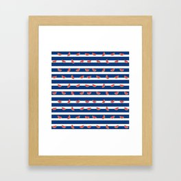 Nautical Melon Framed Art Print