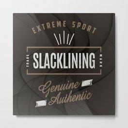 Slacklining Extreme Sport Metal Print