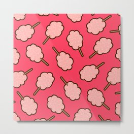 Cotton Candy Pattern Metal Print