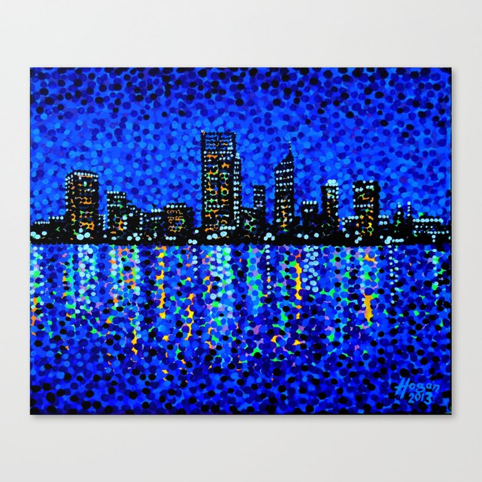 Perth Evening Blues Canvas Print