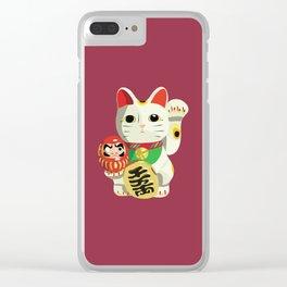 Maneki Neko - Lucky Cat Clear iPhone Case