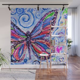 Butterfly Painting Wall Mural