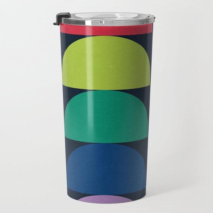 Abstract Flower Palettes Travel Mug