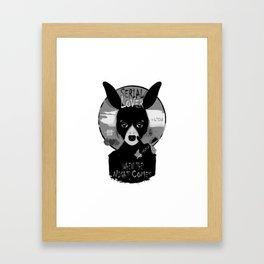 LOVE. Etc. SERIAL LOVER Framed Art Print