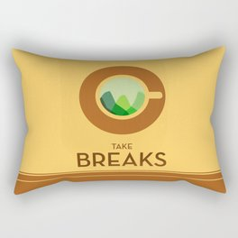 Take breaks. A PSA for stressed creatives. Rectangular Pillow