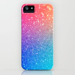 Glitter Rainbow Mermaid Sparkle Ombre iPhone Case