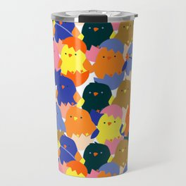 Colored Baby Chickens pattern Travel Mug