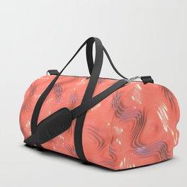 Light Rose Liquid Plastic Surface Duffle Bag