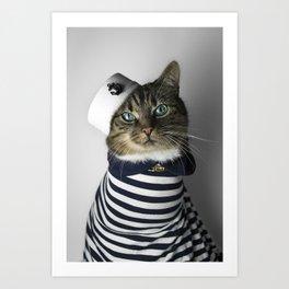 Sailor Cat Art Print