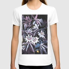 Temple of Flora Blue Lavender Mauve T-shirt