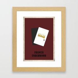 House of Cards - Frank Framed Art Print