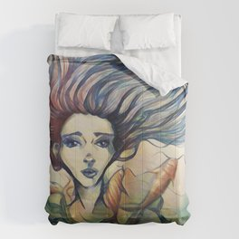 Into The Fish Bowl Comforters